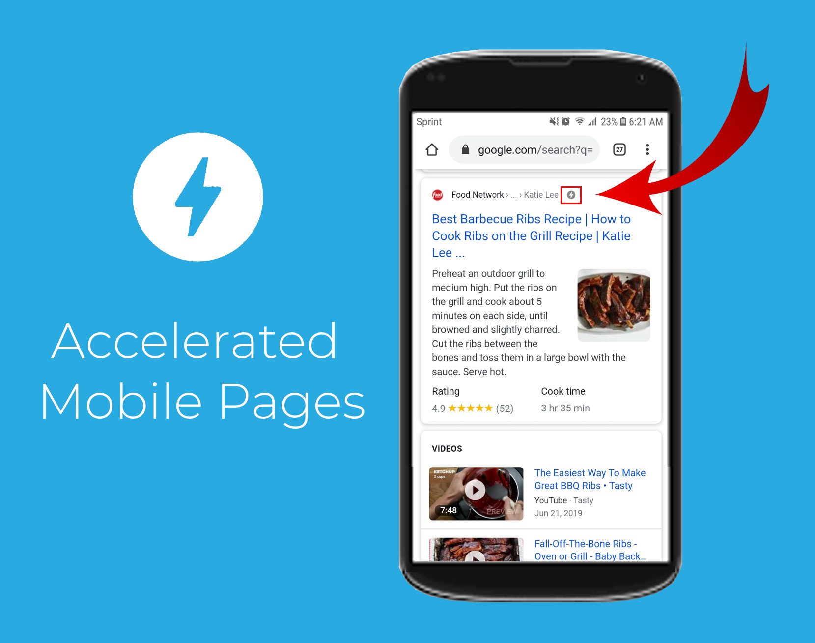 accelerated mobile pages Google results